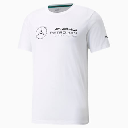 Camiseta con logo Mercedes F1 para hombre, Puma White, pequeño