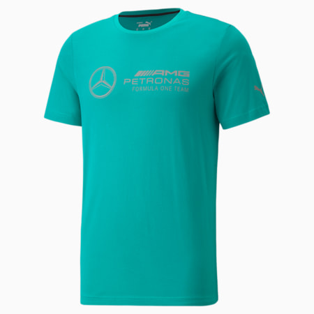T-shirt à logo Mercedes F1, homme, Vert Spectra, petit