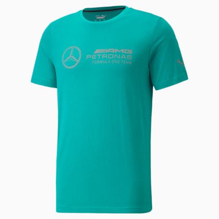 Mercedes F1 Logo Men's  Tee, Spectra Green, small-SEA