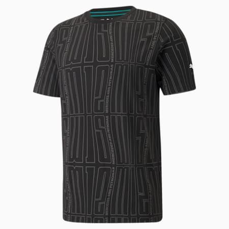 Camiseta estampada con logo Mercedes F1 para hombre, Puma Black, pequeño