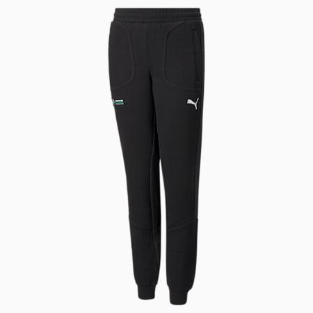 Mercedes F1 Youth  Sweatpants, Puma Black, small-GBR