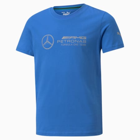 T-shirt con logo Mercedes F1 Youth, Bluemazing, small