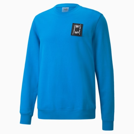 Pivot Special Men's Crewneck Sweatshirt, swedish blue garment wash, small