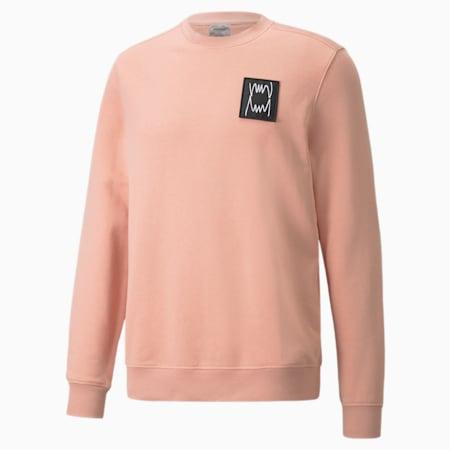Pivot Special Men's Crewneck Sweatshirt, Blush garment wash, small