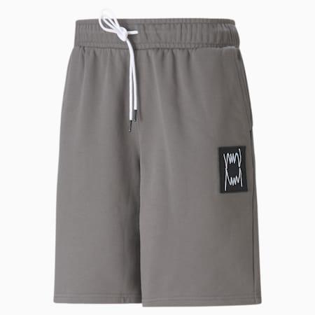 Short Pivot Special, homme, Vêtement délavé gris charbon, petit