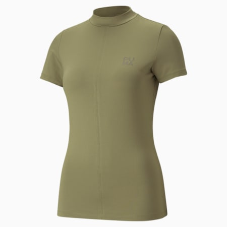 Infuse Women's Tee, Covert Green, small-GBR