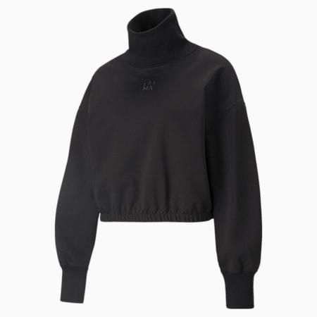 Infuse High-Neck Women's Sweater, Puma Black, small