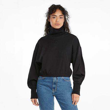 Infuse Damen Sweatshirt mit hohem Kragen, Puma Black, small