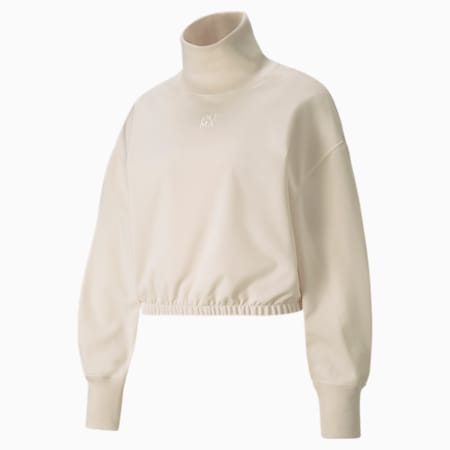 Infuse High-Neck Women's Sweater, Ivory Glow, small