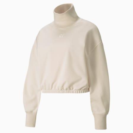 Suéter de cuello alto Infuse para mujer, Ivory Glow, pequeño