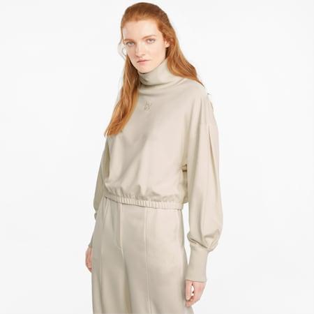 Infuse Damen Sweatshirt mit hohem Kragen, Ivory Glow, small