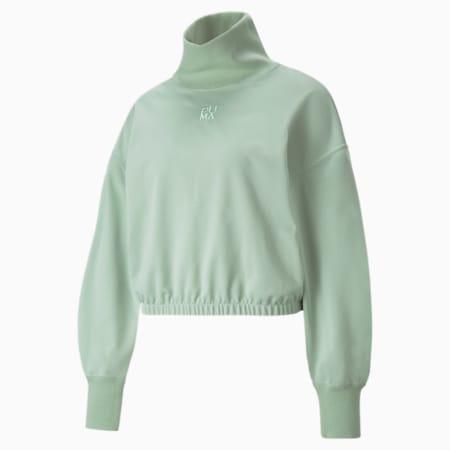 Suéter de cuello alto Infuse para mujer, Frosty Green, pequeño