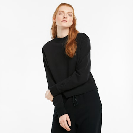 Infuse Damen Sweatshirt mit Rundhalsausschnitt, Puma Black, small
