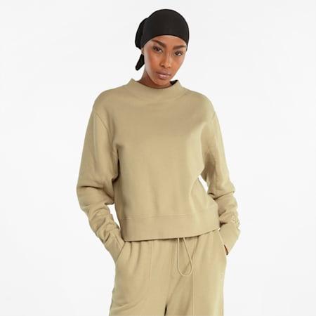 Infuse Damen Sweatshirt mit Rundhalsausschnitt, Pebble, small
