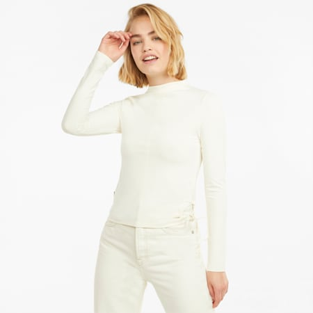 Infuse Long Sleeve Women's Top, Ivory Glow, small