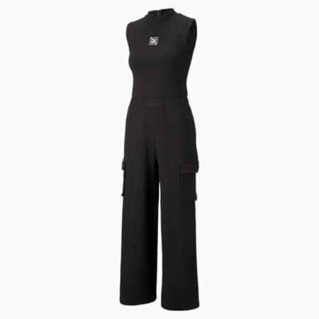 RE.GEN Women's Jumpsuit, Puma Black, small-SEA
