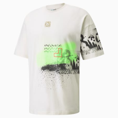 RE.GEN Boxy Graphic Tee, Ivory Glow, small