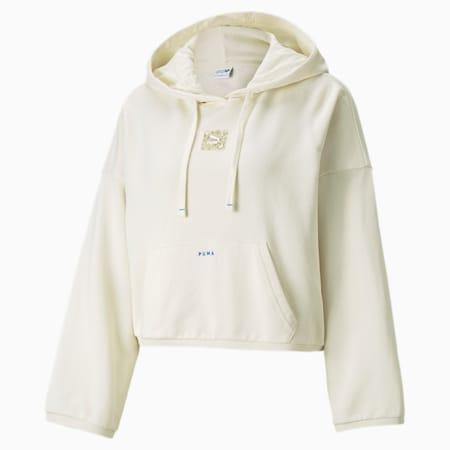 Sudadera con capucha RE.GEN para mujer, Ivory Glow, pequeño