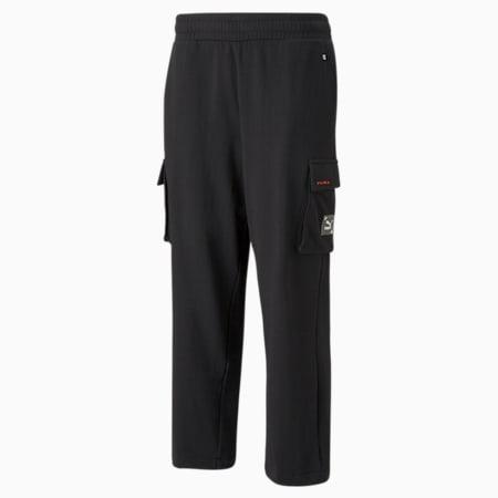RE.GEN 카고 스웨트팬츠/RE.GEN Cargo Sweat Pants, Puma Black, small-KOR