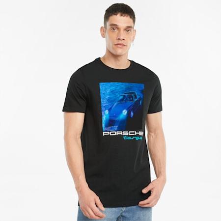 포르쉐 레거시 Statement 남성용 티셔츠/PL Statement Tee, Puma Black, small-KOR