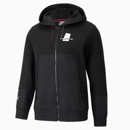 포르쉐 레거시 Hooded 스웨트 재킷/PL Sweat Hoodie Jacket, Puma Black, small-KOR