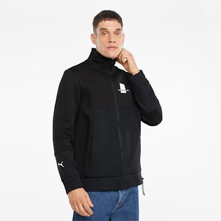 포르쉐 레거시 스웨트 재킷/PL Sweat Jacket, Puma Black, small-KOR