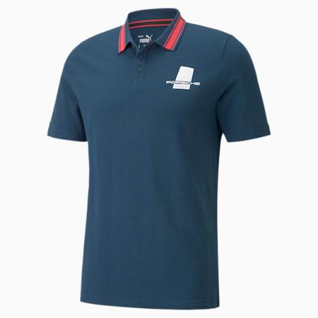 포르쉐 레거시 폴로 셔츠/PL Polo, Intense Blue, small-KOR
