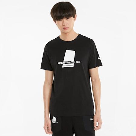 포르쉐 레거시 Logo 티셔츠/PL Logo Tee, Puma Black, small-KOR