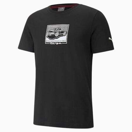 포르쉐 레거시 Graphic 티셔츠/PL Graphic Tee, Puma Black, small-KOR
