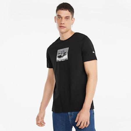 Porsche Legacy Graphic T-shirt voor heren, Puma Black, small