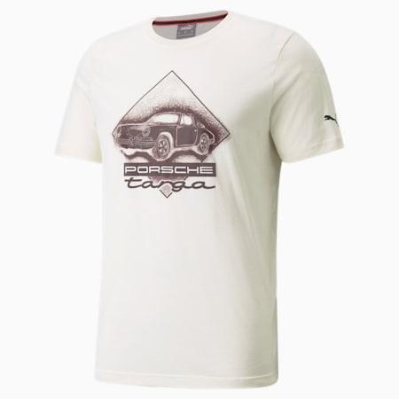 Porsche Legacy Graphic Men's Tee, Ivory Glow, small
