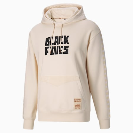 Black Fives basketbalhoodie heren, Beige, small