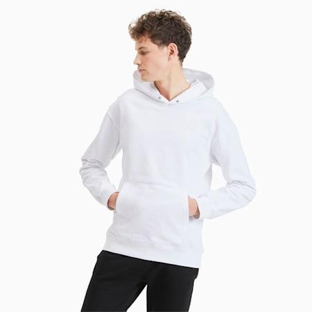 Classics Heavy Knit Men's Hoodie, Puma White, small
