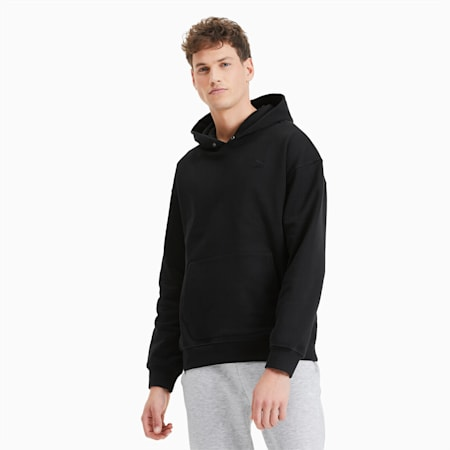 Classics Heavy Knit Men's Hoodie, Puma Black, small