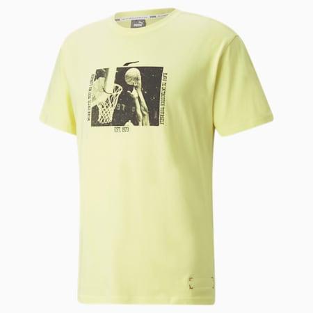 Camiseta de manga corta Signing Day Basketball para hombre, Yellow Pear, pequeño