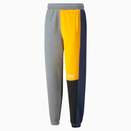 Pantalones de básquetbol Signature para hombre, Medium Gray Heather, pequeño