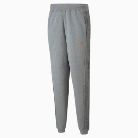 Pantalones de básquetbol Scorecard para hombre, Medium Gray Heather, pequeño