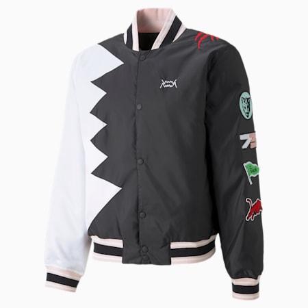Official Visit Men's Basketball Jacket, Puma Black, small-GBR