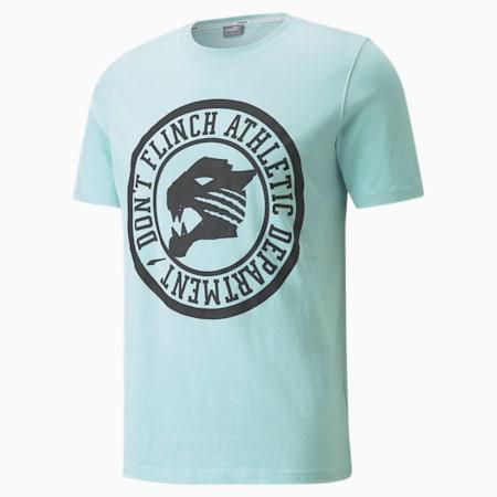 T-shirt de basketball à manches courtes Qualifier, homme, Coquille bleue, petit