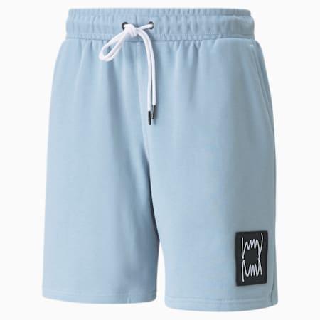 Shorts de básquetbol Pivot para hombre, Blue Fog, pequeño