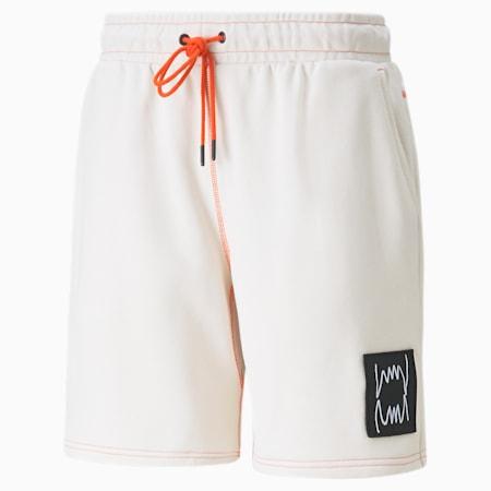 Shorts de básquetbol Pivot para hombre, Whisper White, pequeño
