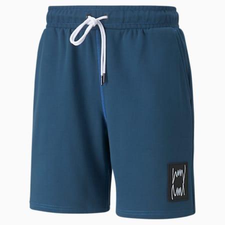Shorts de básquetbol Pivot para hombre, Intense Blue, pequeño