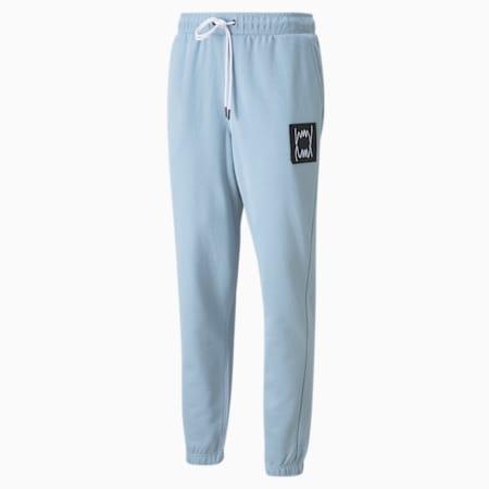 Pantalones para básquetbol Pivot para hombre, Blue Fog, pequeño