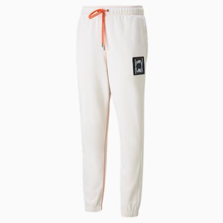 Pantalones para básquetbol Pivot para hombre, Whisper White, pequeño