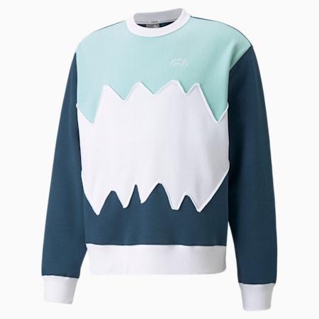 Enrolment Herren Basketball Sweatshirt mit Rundhalsausschnitt, Intense Blue, small