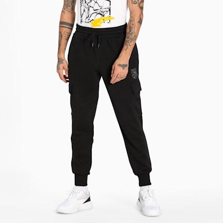 Pantalones de básquetbol Booster para hombre, Puma Black, pequeño