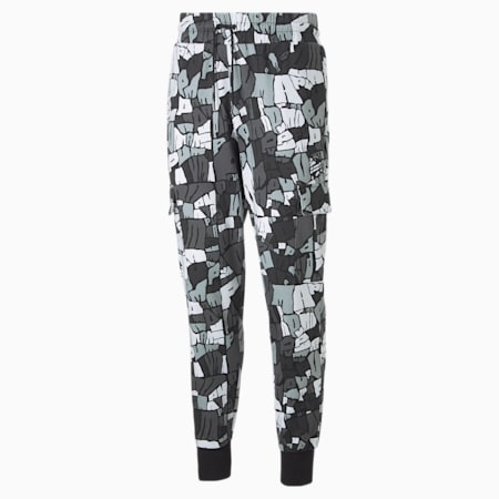 Booster Men's Basketball Pants, Puma Black-Iron Gate, small