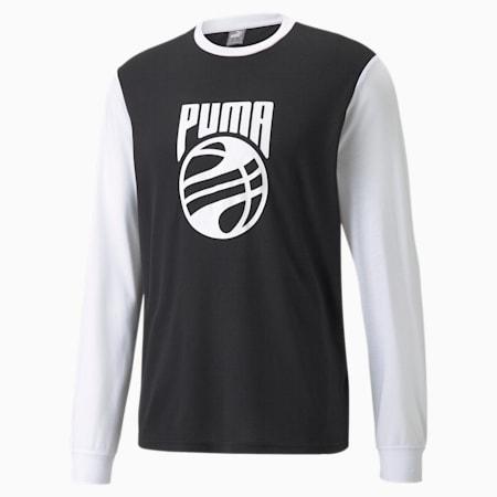 Camiseta Splash Shooting para hombre, Puma White-Puma Black, pequeño
