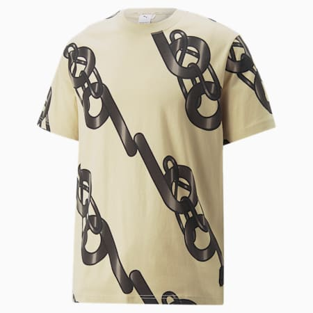 PUMA x PRONOUNCE Graphic Relaxed Fit Unisex T-Shirt, Pebble, small-IND