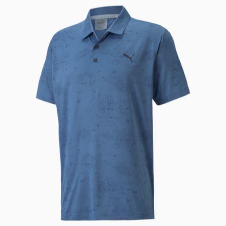 Camiseta tipo polo MATTR Signature Required para hombre, Federal Blue-Navy Blazer, pequeño